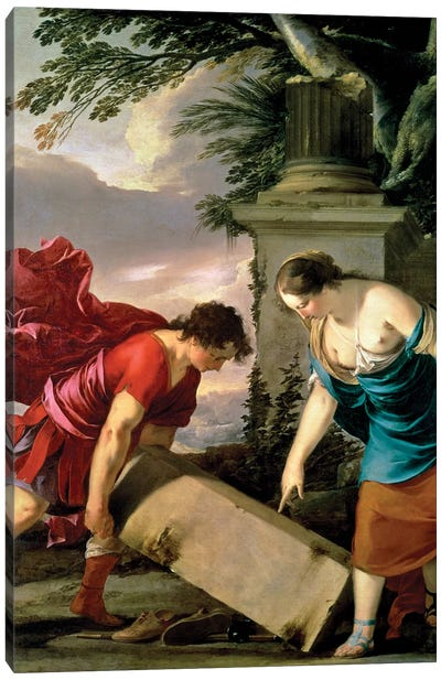 Theseus and his Mother Aethra, c.1635-36  Canvas Art Print
