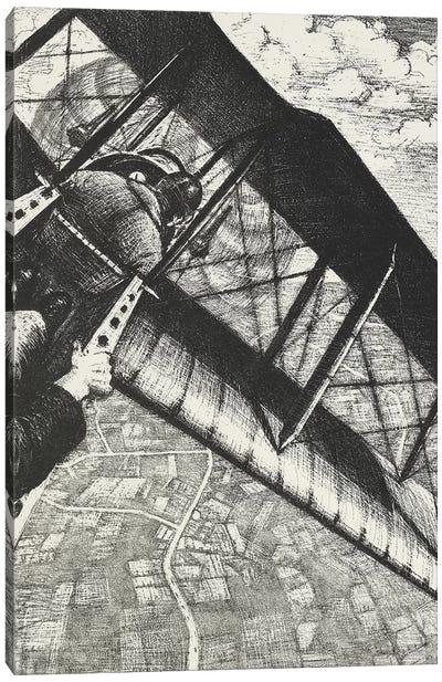 Banking at 4,000 feet, 1917 Canvas Art Print