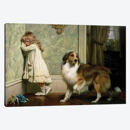 A Special Pleader, 1893 Canvas Print #BMN9326} by Charles Burton Barber Art Print