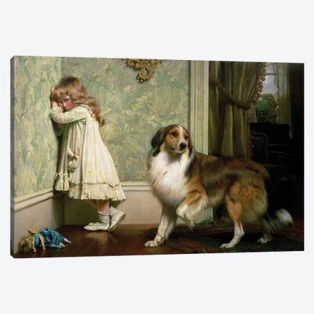 A Special Pleader, 1893 Canvas Print #BMN9326} by Charles Burton Barber Art Print