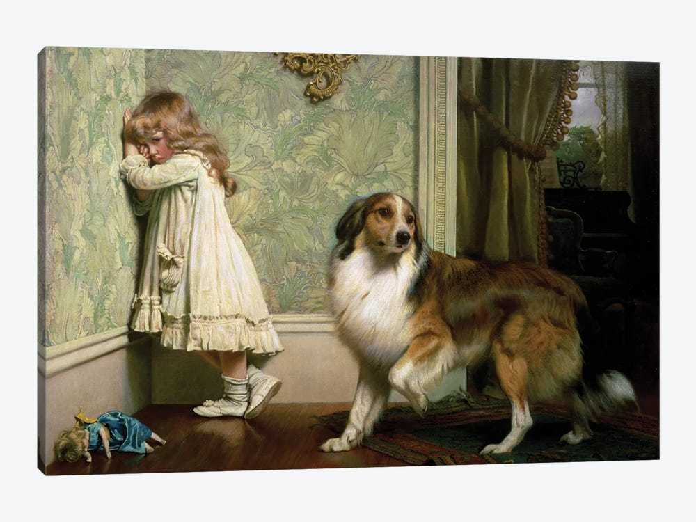 A Special Pleader, 1893 by Charles Burton Barber 1-piece Canvas Art