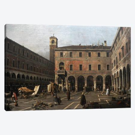 The Campo di Rialto, 1758-1763, by Canaletto . Canvas Print #BMN9327} by Canaletto Canvas Art Print