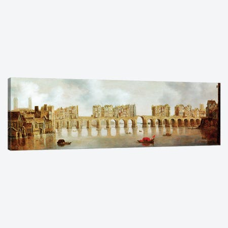 View of London Bridge, c.1632 Canvas Print #BMN9328} by Claude De Jongh Canvas Wall Art