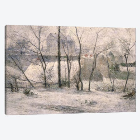 Winter Landscape, 1879  Canvas Print #BMN932} by Paul Gauguin Canvas Wall Art