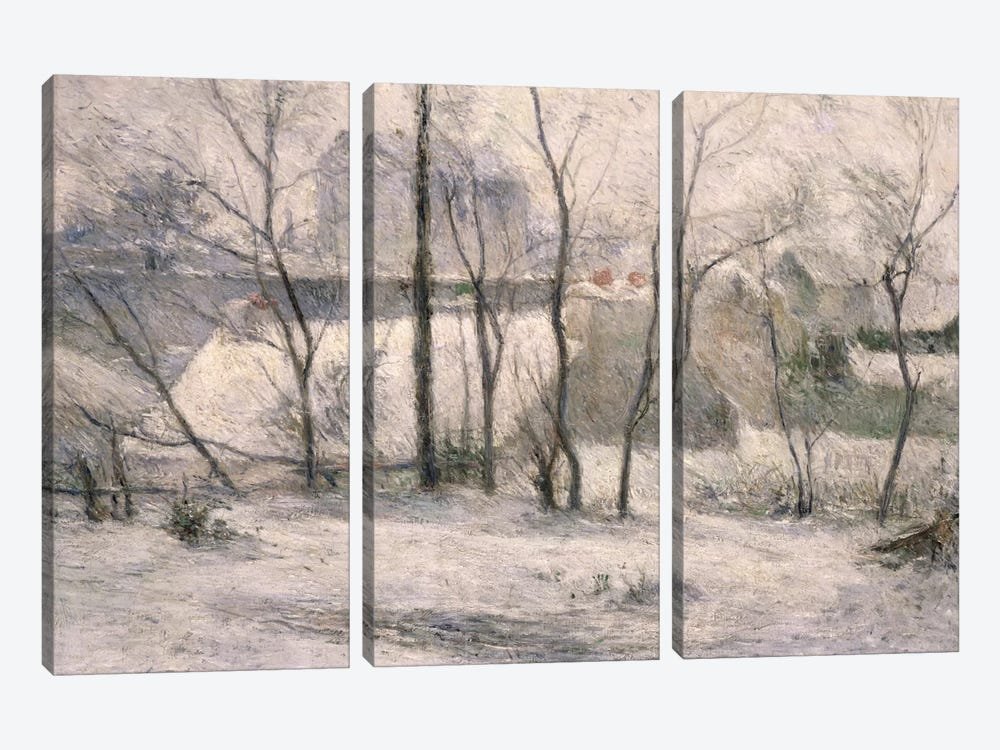 Winter Landscape, 1879  by Paul Gauguin 3-piece Canvas Wall Art