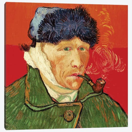 Self Portrait with Bandaged Ear, 1889 Canvas Print #BMN9334} by Vincent van Gogh Canvas Artwork