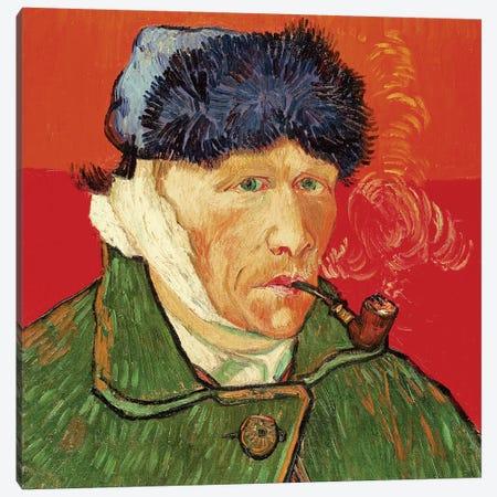 Self Portrait with Bandaged Ear, 1889 Canvas Print #BMN9334} by Vincent van Gogh Canvas Artwork