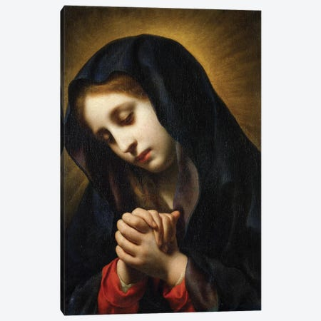 The Virgin of the Annunciation, c.1653-55 Canvas Print #BMN9337} by Carlo Dolci Canvas Artwork