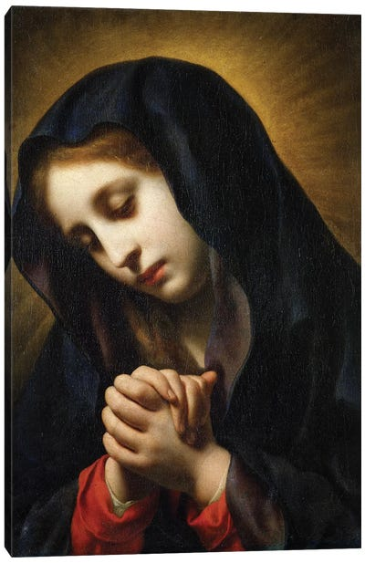 The Virgin of the Annunciation, c.1653-55 Canvas Art Print