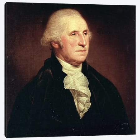 Portrait of George Washington, 1795 Canvas Print #BMN9339} by Charles Willson Peale Canvas Art Print