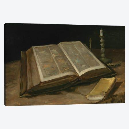 Still Life with Bible, 1885 Canvas Print #BMN9340} by Vincent van Gogh Canvas Art