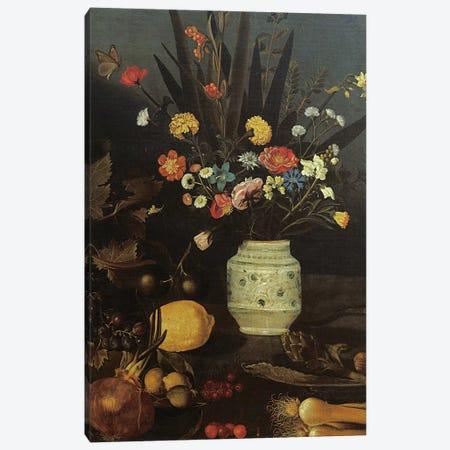 Still life with flowers and plants Canvas Print #BMN9341} by Michelangelo Merisi da Caravaggio Canvas Art