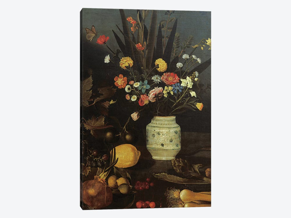 Still life with flowers and plants by Michelangelo Merisi da Caravaggio 1-piece Canvas Art Print