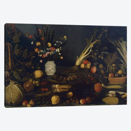 Still life of flowers and plants Canvas Print #BMN9342} by Michelangelo Merisi da Caravaggio Canvas Art
