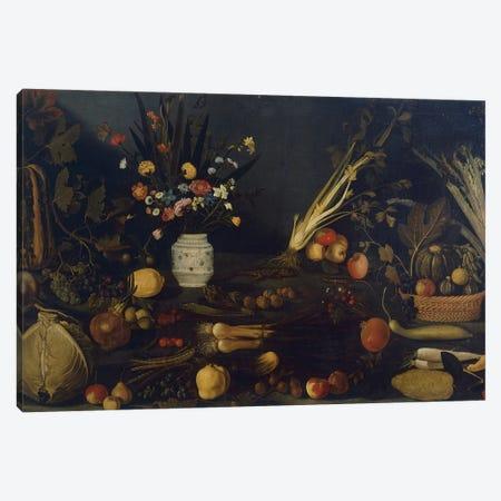 Still life of flowers and plants Canvas Print #BMN9342} by Michelangelo Merisi da Caravaggio Canvas Art