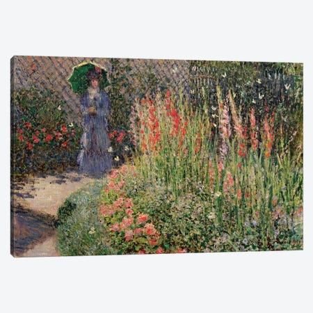 Rounded Flower Bed , 1876 Canvas Print #BMN9344} by Claude Monet Canvas Art Print