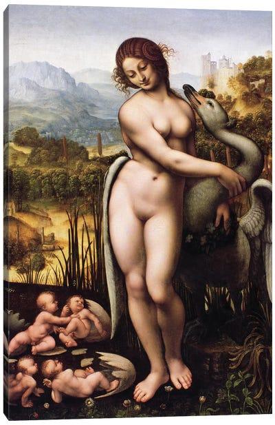 Leda and the Swan Canvas Art Print