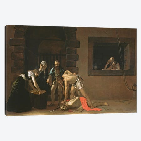 The Decapitation of St. John the Baptist, 1608 Canvas Print #BMN9346} by Michelangelo Merisi da Caravaggio Canvas Print