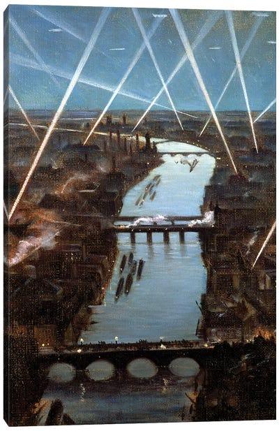 Among London Searchlights Canvas Art Print