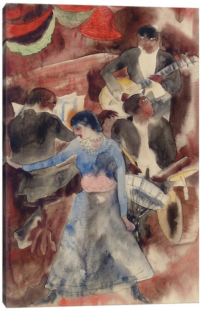 Negro Girl Dancer, 1916 Canvas Art Print