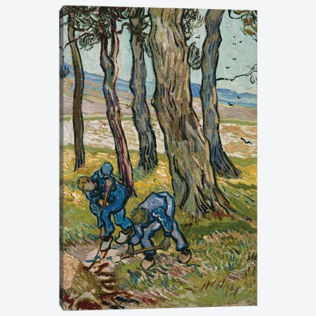 The Diggers, 1889 Canvas Print #BMN9357} by Vincent van Gogh Canvas Wall Art