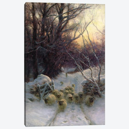 The Sun Had Closed For The Winter Day Canvas Print #BMN9359} by Joseph Farquharson Art Print