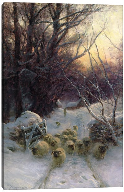 The Sun Had Closed For The Winter Day Canvas Art Print