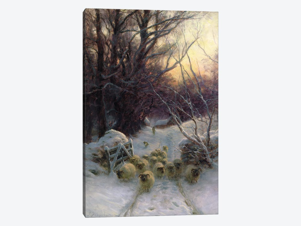 The Sun Had Closed For The Winter Day by Joseph Farquharson 1-piece Canvas Wall Art