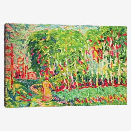 A Woman in a Birch Wood Canvas Print #BMN935} by Ernst Ludwig Kirchner Canvas Print