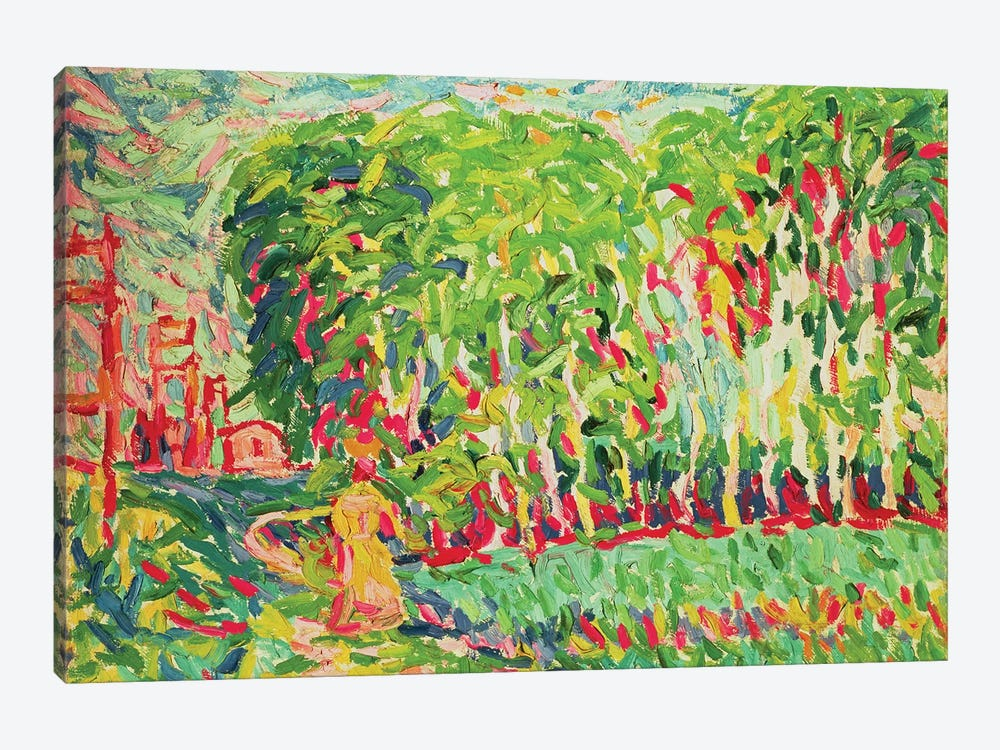 A Woman in a Birch Wood by Ernst Ludwig Kirchner 1-piece Art Print