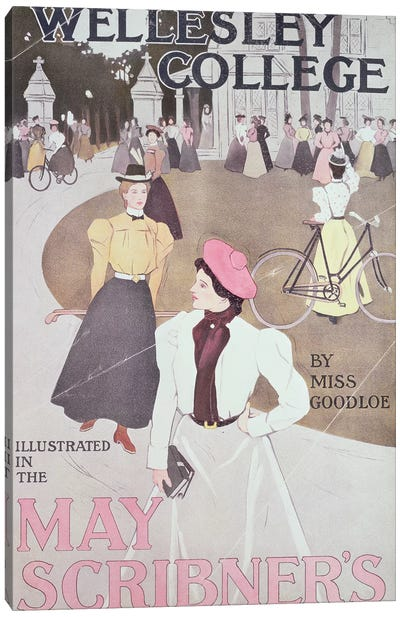 Wellesley College, by Miss Goodloe, cover illustration from the Scribner's Magazine for May, c.1897 Canvas Art Print