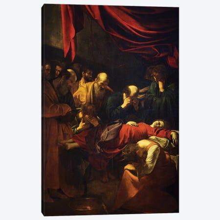 The Death of the Virgin, 1601-06 Canvas Print #BMN9368} by Michelangelo Merisi da Caravaggio Canvas Artwork