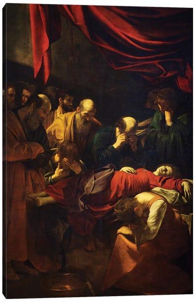 The Death of the Virgin, 1601-06 Canvas Art Print