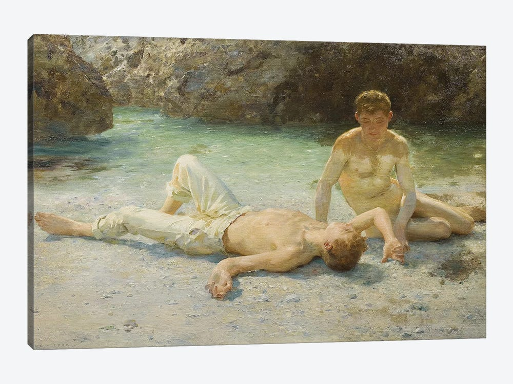 Noonday Heat, 1902-3 by Henry Scott Tuke 1-piece Art Print