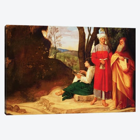 The Three Philosophers  Canvas Print #BMN936} by Giorgio Giorgione Art Print