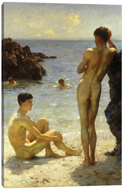 Lovers Of The Sun Canvas Art Print