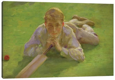 Henry All In Cricketing Whites Canvas Art Print