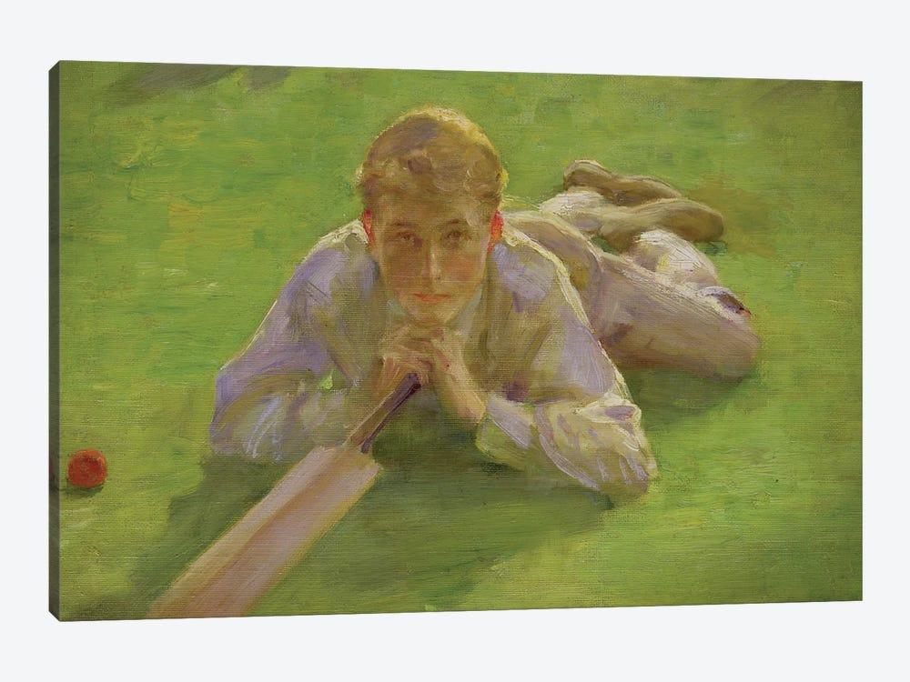 Henry All In Cricketing Whites by Henry Scott Tuke 1-piece Canvas Art