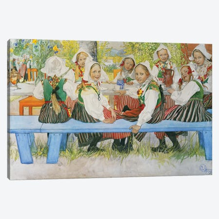 Kersti's Birthday, 1909 Canvas Print #BMN9372} by Carl Larsson Art Print