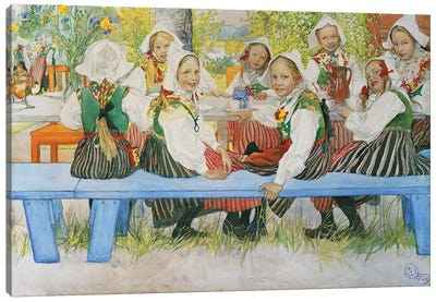 Kersti's Birthday, 1909 Canvas Art Print
