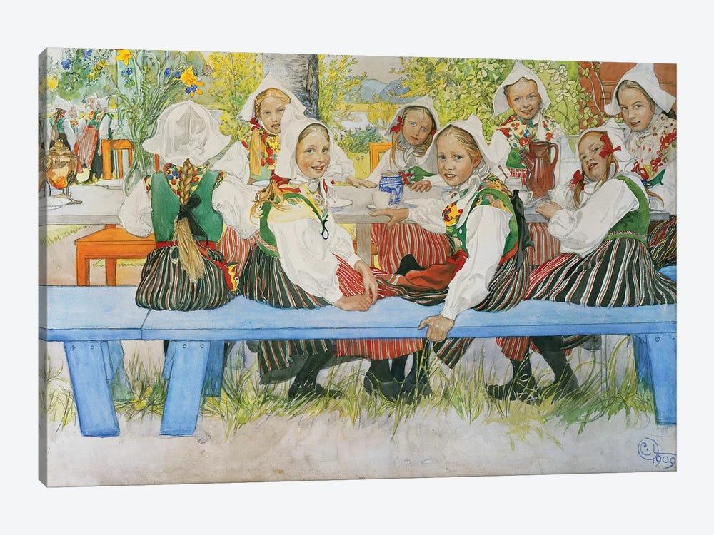 Kersti's Birthday, 1909 by Carl Larsson 1-piece Canvas Print