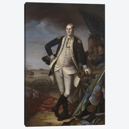 George Washington at the Battle of Princeton, 1781 Canvas Print #BMN9374} by Charles Willson Peale Canvas Wall Art
