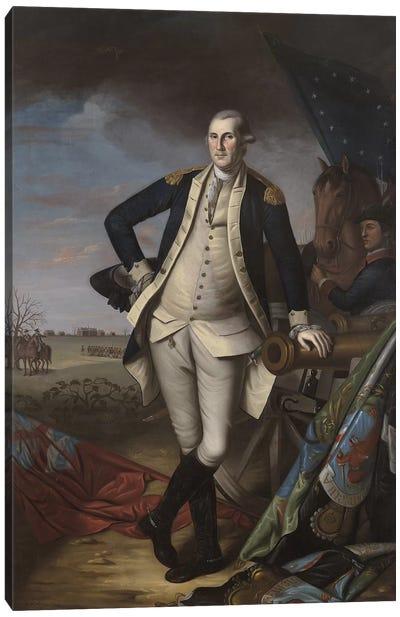 George Washington at the Battle of Princeton, 1781 Canvas Art Print
