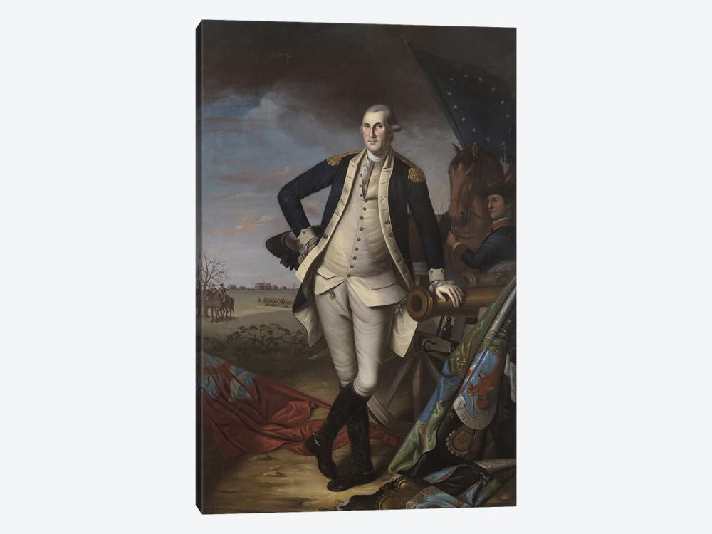 George Washington at the Battle of Princeton, 1781 by Charles Willson Peale 1-piece Canvas Art Print