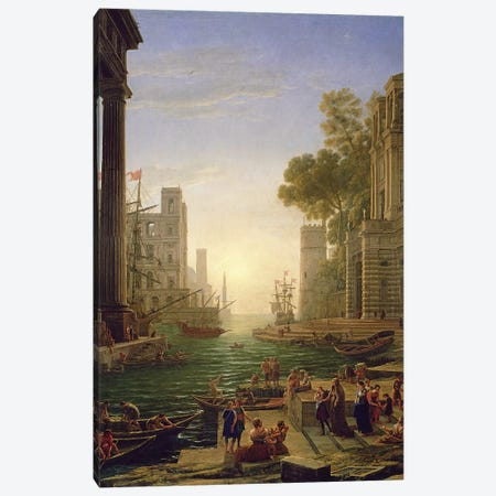 Embarkation of St. Paula Romana at Ostia, 1637-39 Canvas Print #BMN9375} by Claude Lorrain Canvas Wall Art