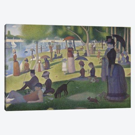 A Sunday on La Grande Jatte, 1884-86 Canvas Print #BMN9377} by Georges Seurat Canvas Artwork