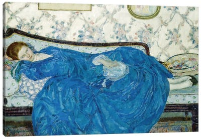 The Blue Gown, 1917 Canvas Art Print