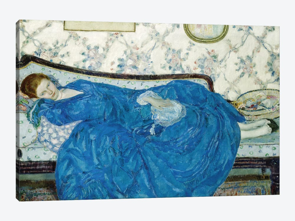 The Blue Gown, 1917 by Frederick Carl Frieseke 1-piece Canvas Art