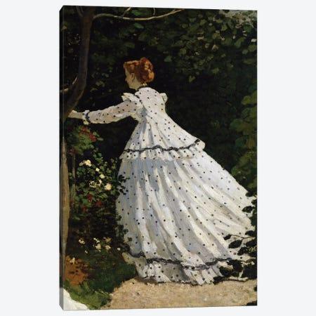 Women in the Garden Canvas Print #BMN9387} by Claude Monet Canvas Art Print