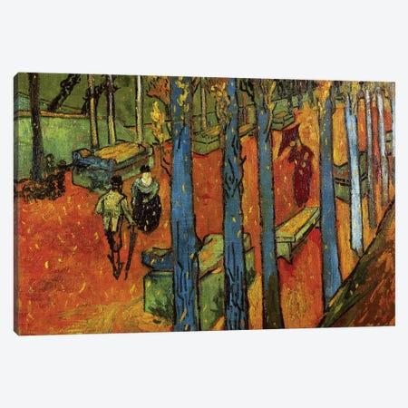 Falling leaves , 1888 Canvas Print #BMN9391} by Vincent van Gogh Art Print